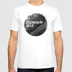 Doomsday 2012 MEDIUM White Mens Fitted Tee