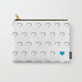 Hearts - Blue Carry-All Pouch