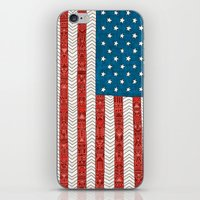 novelty iPhone & iPod Skins featuring USA by Bianca Green