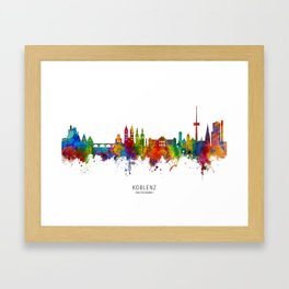 Koblenz Germany Skyline Framed Art Print