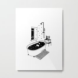 Stat Bath Metal Print