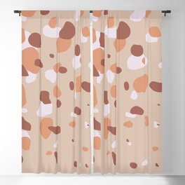 Minimal abstact geometry terrazzo inspired in burnt orange tones Blackout Curtain