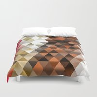 triangle Duvet Covers featuring Triangle by Susann Mielke
