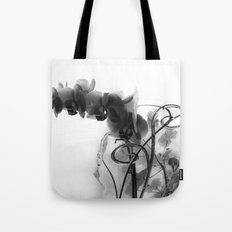 Flowers in black Tote Bag
