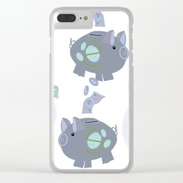 This little Piggy Making Money Moves Clear iPhone Case