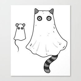 Cat Ghost & Mouse Ghost – Nightmare Canvas Print
