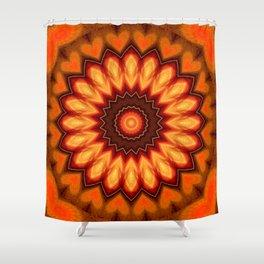 Mandala Lovely Hearts Shower Curtain
