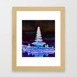 Bali, Magical Temple Light Framed Art Print
