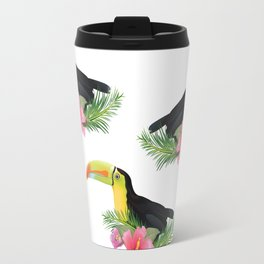 vintage style Toucan Pattern Travel Mug
