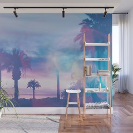 Tropical Paradise In Surreal Light Wall Mural