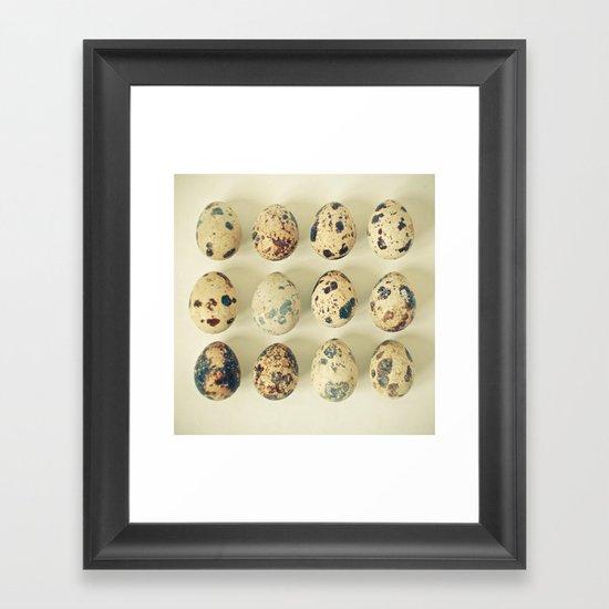 Quail Eggs Framed Art Print