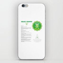 Heart Chakra - Anahata Chart & Art iPhone Skin
