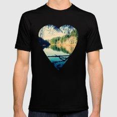 Lost Lake Love MEDIUM Black Mens Fitted Tee