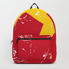Vietnam Flag with Grunge effect Backpack