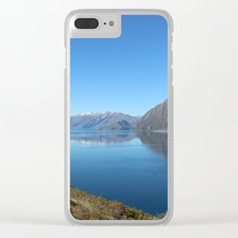 Lake Hawea New Zealand Clear iPhone Case