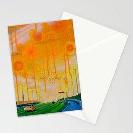 Yellow Santa Fe Overpass Stationery Cards