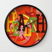 health Wall Clocks featuring Health by Sartoris ART