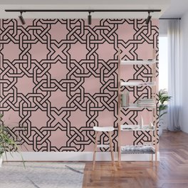 Entwined graphic Lines Home Design - Coral Wall Mural
