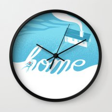 Home is everywhere Wall Clock