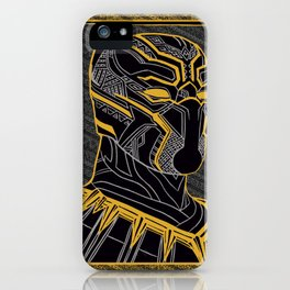 The King Of Wakanda - Panther Pattern iPhone Case