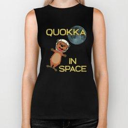 Quokka In Space Australia Kangaroo Marsupial Biker Tank