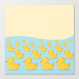Rubber Duckie Army Canvas Print
