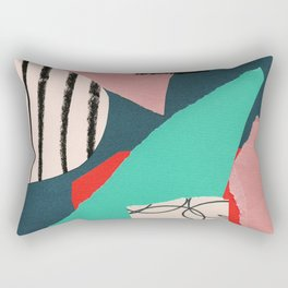 abstract paper collage Rectangular Pillow