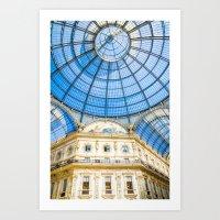 milan Art Prints featuring Milan by Halina  Jasińska photography