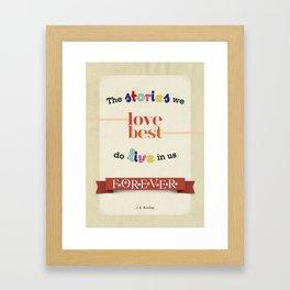The Stories We Love Best - J.K. Rowling Framed Art Print