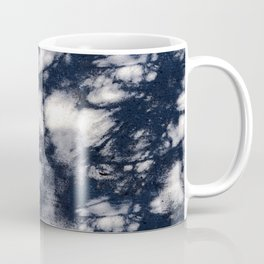 Navy Blue Pine Tree Shadows on Cement Coffee Mug