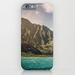 Na Pali Coast Kauai Hawaii Printable Wall Art   Tropical Beach Nature Ocean Coastal Travel Photography Print iPhone Case