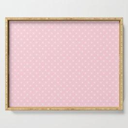 Light Soft Pastel Pink Stars Serving Tray