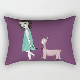 Llama Girl Rectangular Pillow