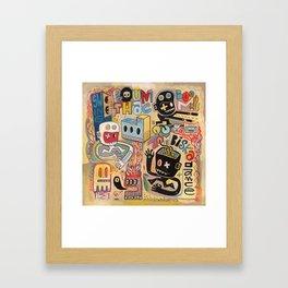 Zombiska dance  Framed Art Print