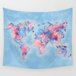 world map 110 #worldmap #world #map Wall Tapestry