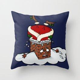 Santa Claustrophobia Throw Pillow