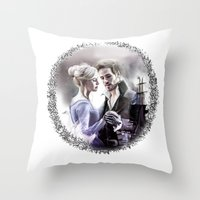 captain swan Throw Pillows featuring Captain Swan by Clara J Aira
