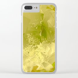 Cactus Orchid Light Green Cubist Clear iPhone Case