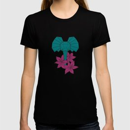 Elephant + Lilly Flowers T-shirt