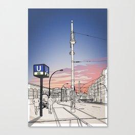 S+U Warschauer Strasse Canvas Print