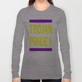 Trojan Pride - Purple & Yellow Long Sleeve T-shirt