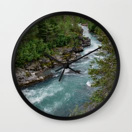 Alaska River Canyon - II Wall Clock