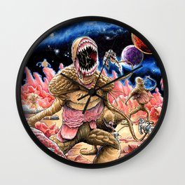"""Massacre at Outpost 31"" Wall Clock"