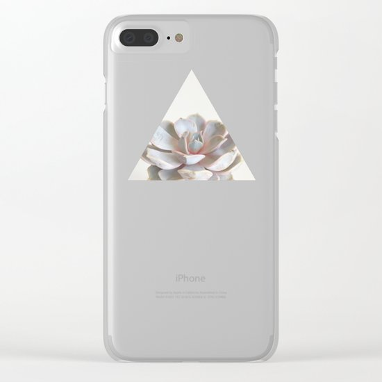 Pink Succulent Clear iPhone Case