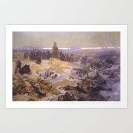 Alfons Mucha - Slavic Epic - After the Battle of Grunwald: Solidarity of the Northern Slavs (1924) Art Print
