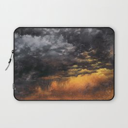Watercolor Sky No 6 - dramatic storm clouds Laptop Sleeve