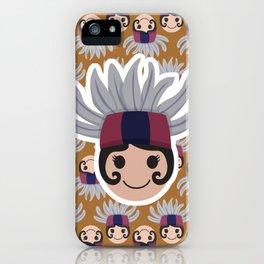Iconic Headdresses - East Kalimantan (Borneo) iPhone Case