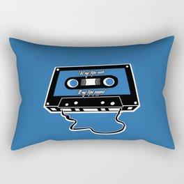 I let my tape rock 'til my tape popped Rectangular Pillow