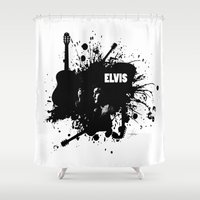 elvis Shower Curtains featuring ELVIS by Ryan Anderson