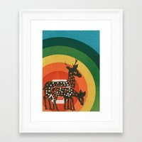 medicine Framed Art Prints featuring Deer Medicine by Ben Blanchard